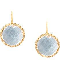 larkspur & hawk chambray olivia button earrings - ylwgold