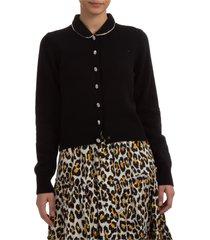 cardigan maglione maglia donna jeweled