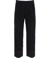 n.21 cropped trousers with lace