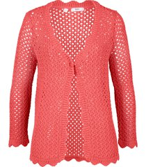 cardigan con maniche a 3/4 (rosso) - bpc bonprix collection