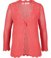 cardigan con maniche a 3/4 (rosso) - bpc bonprix collection