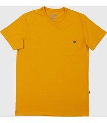 camiseta billabong mesa slub crew amarela - amarelo - masculino - dafiti