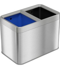 halo dual-compartment 5.3 gallon / 20 liter open-top trash can