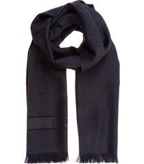 emporio armani north south wool scarf