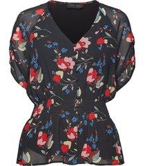 paradiso-bl blouses short-sleeved svart storm & marie