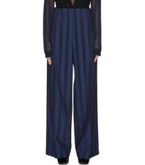 blended stripe tailored pants