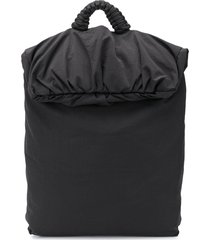 bottega veneta oversized nylon backpack - black