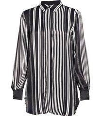 anna stripe shirt blouse lange mouwen zwart bruuns bazaar