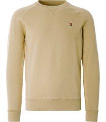 maison kitsune fox head patch classic sweatshirt | beige | 315km01-bei
