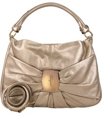 borsa donna a mano shopping in pelle vara metallic