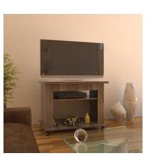 """rack para tv de até 32"""" 90 cm carvalho lilies móveis"""