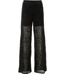 pantaloni in maglia con elastico in vita (nero) - bodyflirt