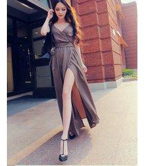 pf075 sexy sweet chiffon long blouse, swing dress, size s-l, as shown