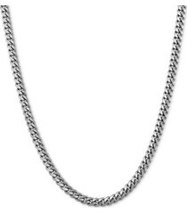 """curb link 20"""" chain necklace in sterling silver or 18k gold-plated over sterling silver"""