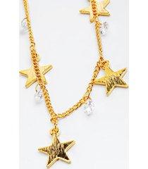 adaire cz star drops choker - gold