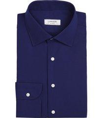 camicia da uomo su misura, thomas mason, blu zephyr, quattro stagioni