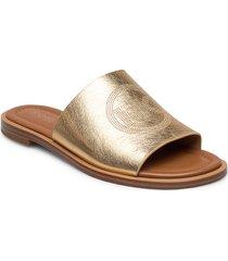 leandra slide shoes summer shoes flat sandals guld michael kors shoes