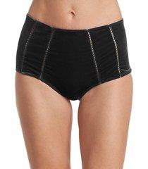 velvet high waisted bikini bottom