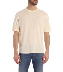 ami alexandre mattiussi t shirt in ligth jersey with tab on side