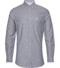 chambray slim stretch skjorta casual grå calvin klein jeans