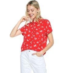 camisa rojo-blanco mng
