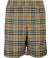 burberry debson - vintage check technical twill shorts