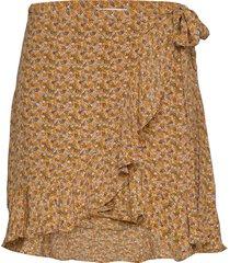 limon s wrap skirt aop 10867 kort kjol brun samsøe samsøe