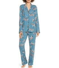 women's chalmers mia pajamas, size medium - green