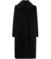 kylie fitter long faux shearling coat