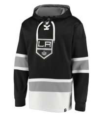 majestic los angeles kings men's power play lace up hoodie
