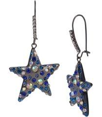 betsey johnson celestial star dangle earrings