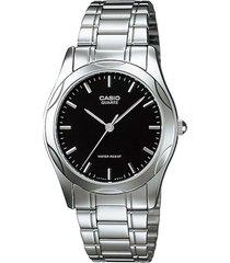 reloj casio ltp_1275d_1a plateado acero inoxidable