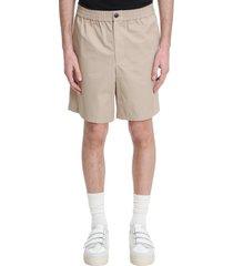 ami alexandre mattiussi shorts in beige cotton