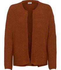 apios stickad tröja cardigan brun by malene birger