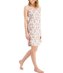 charter club cotton tank chemise nightgown, created for macy's