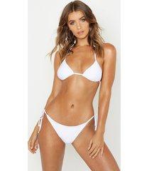 triangle bikini set, white