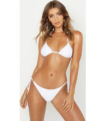 triangle bikini set, white