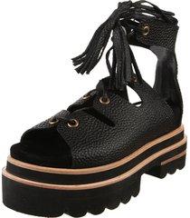 sandalia negra maggio rossetto cosette