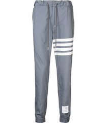 thom browne 4-bar swim-tech sweatpants - grey