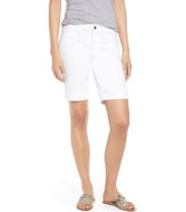 women's jen7 denim bermuda shorts, size 12 - white