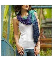 silk scarf, 'cool transition' (thailand)