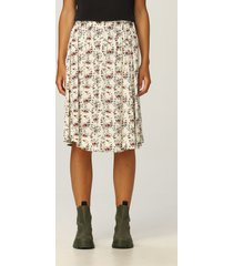ganni skirt ganni skirt in organic cotton with floral pattern