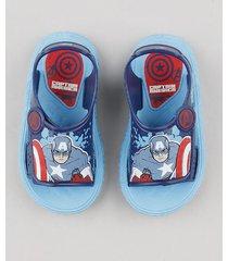 sandália papete infantil capitão américa azul