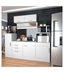 cozinha compacta completa nova mobile marajó 6 portas 2 gavetas