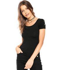 camiseta lunender comfort preta - preto - feminino - viscose - dafiti