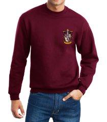 gryffindor #1 crest pocket size unisex crewneck sweatshirt maroon