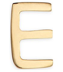 18k yellow gold letter charm - e