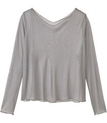 licht transparant shirt uit biologische zijde, platinum 52