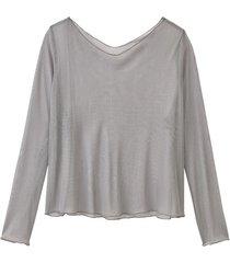licht transparant shirt uit biologische zijde, platinum 40