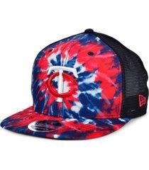 new era minnesota twins tie dye mesh back 9fifty cap